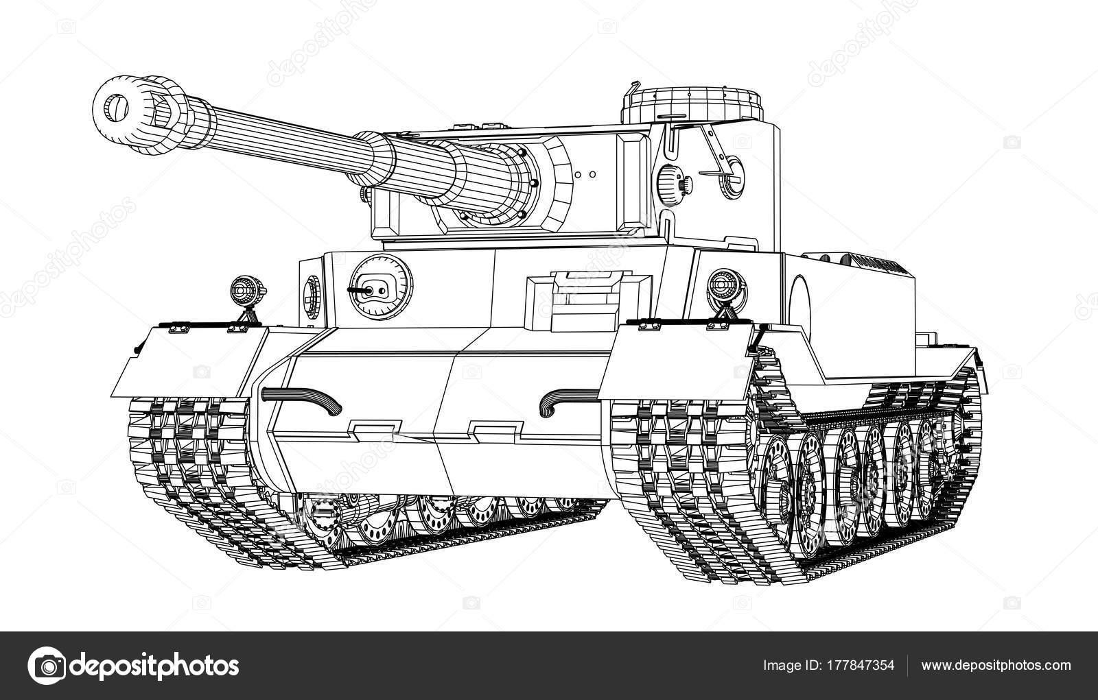 Blueprint of realistic tank stock vector cherezoff 177847354 blueprint of realistic tank stock vector malvernweather Choice Image