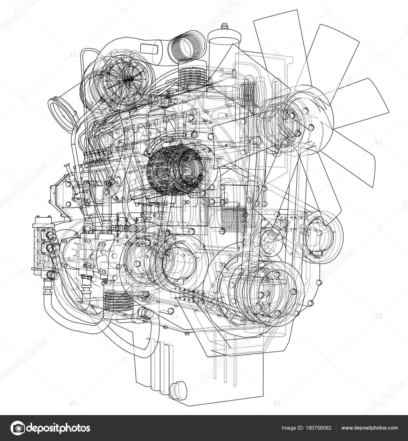 Unusual Car Engine Sketch Photos - Electrical System Block Diagram ...