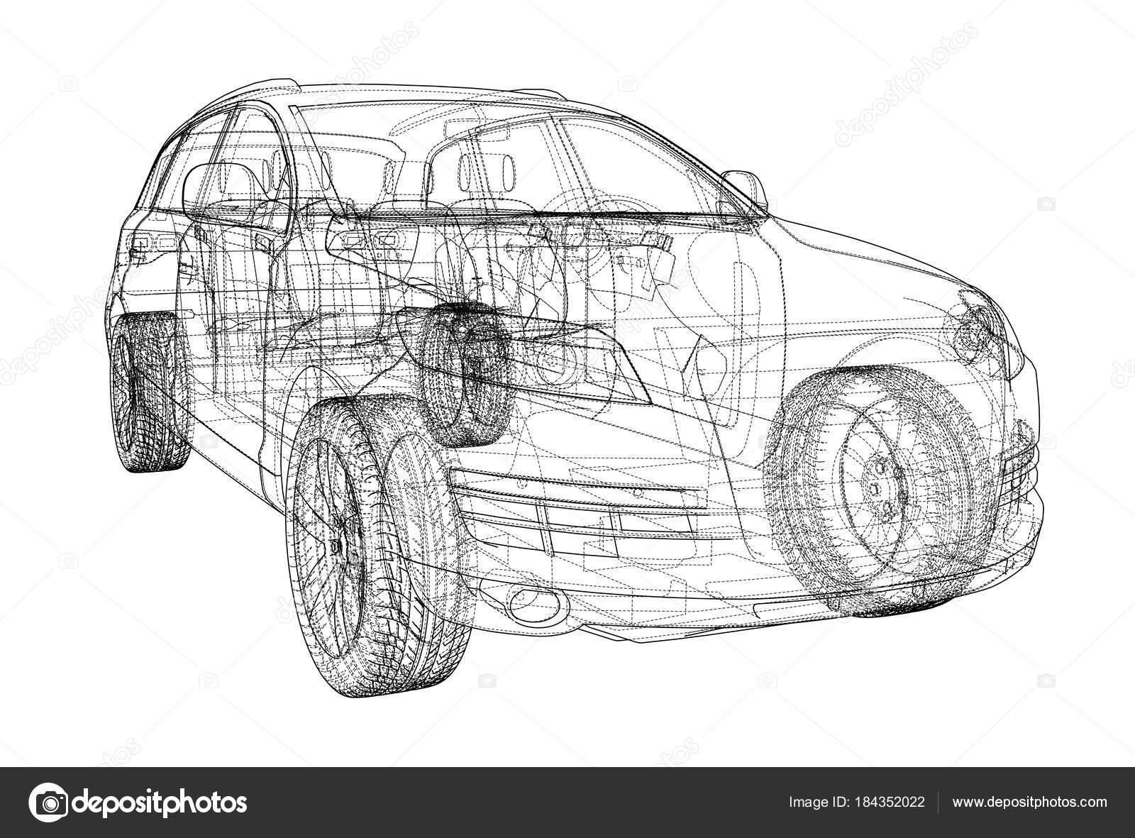 Concept car. Vector — Stock Vector © cherezoff #184352022