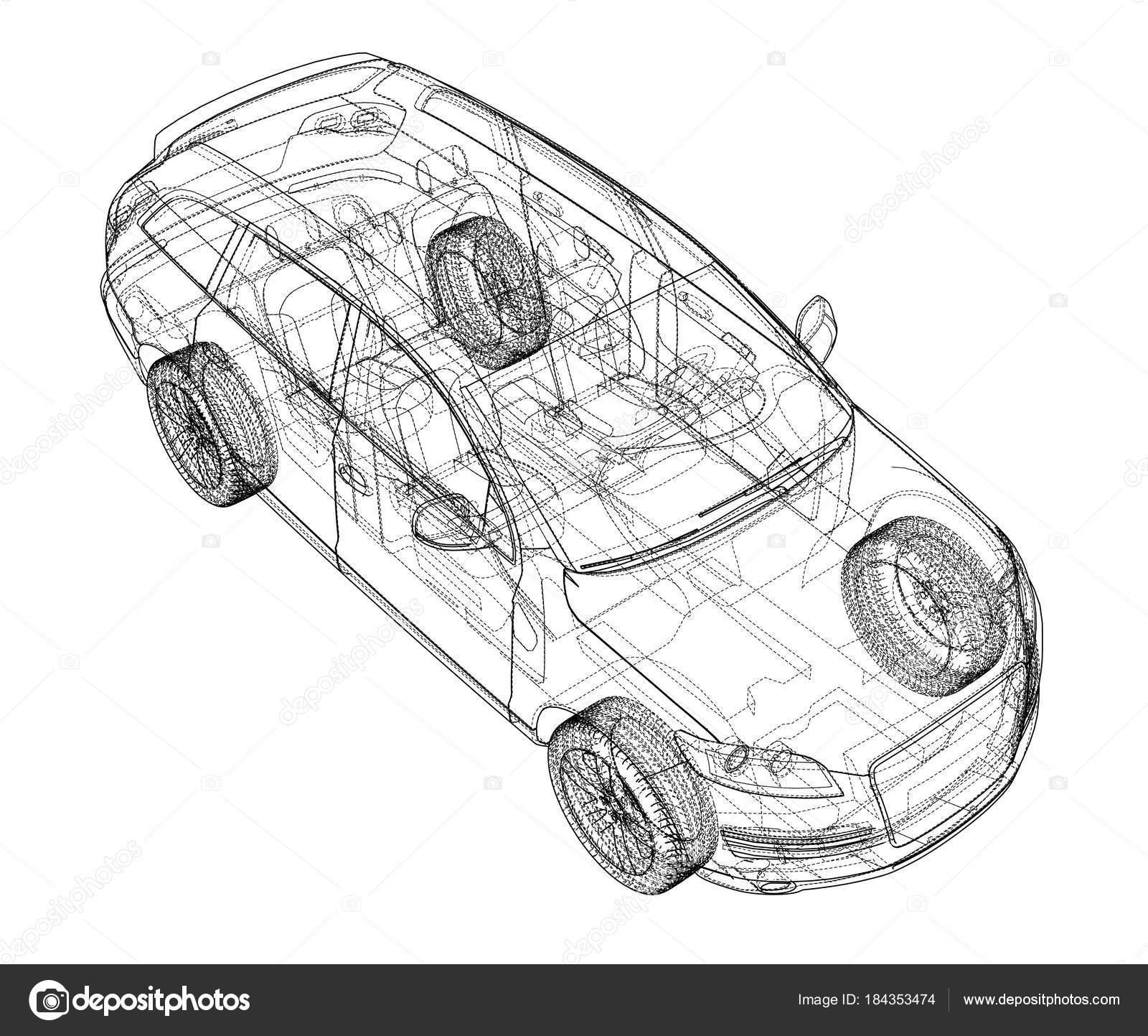 Auto-Skizze. Vektor — Stockvektor © cherezoff #184353474