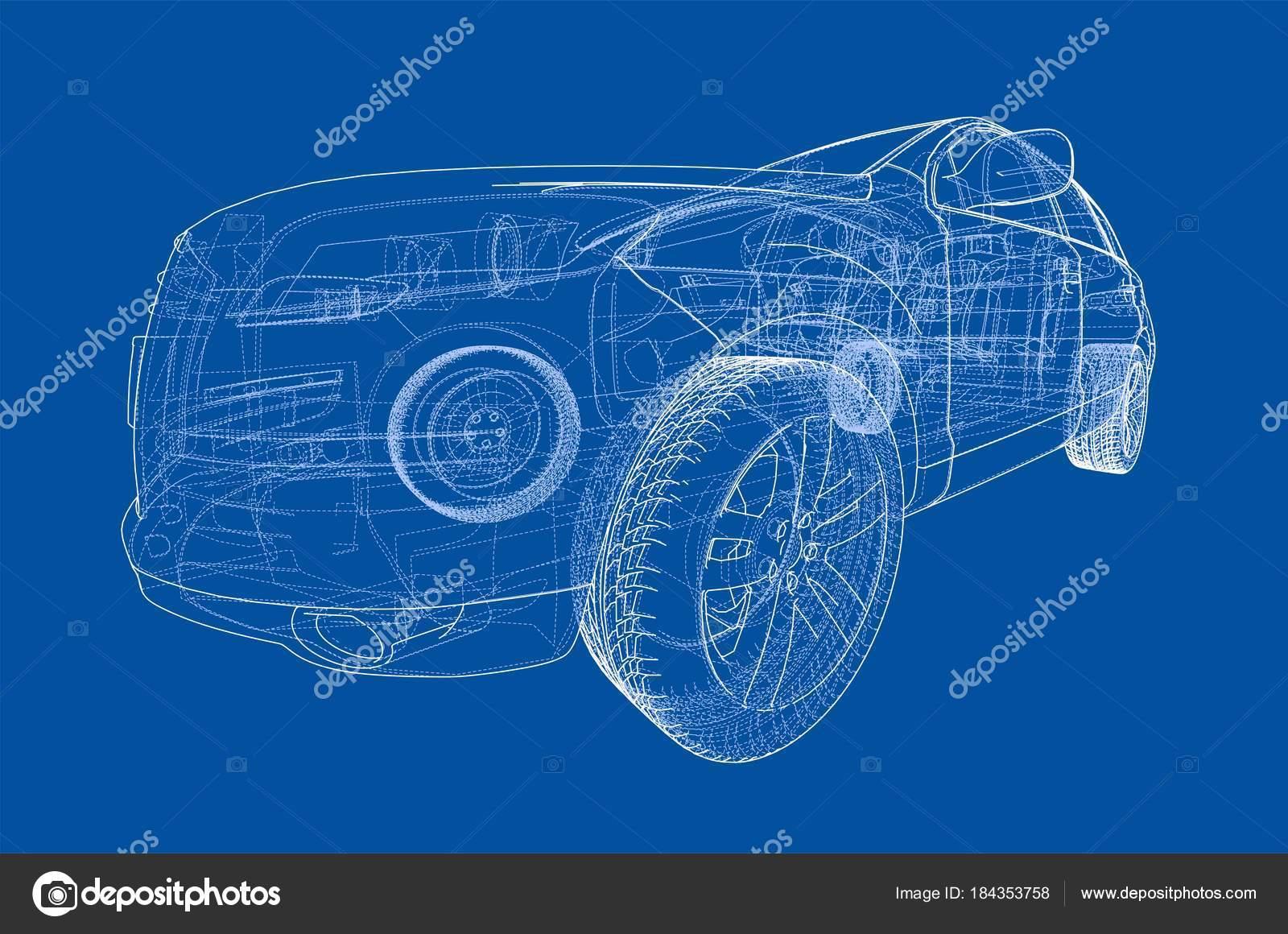Auto-Skizze. Vektor — Stockvektor © cherezoff #184353758