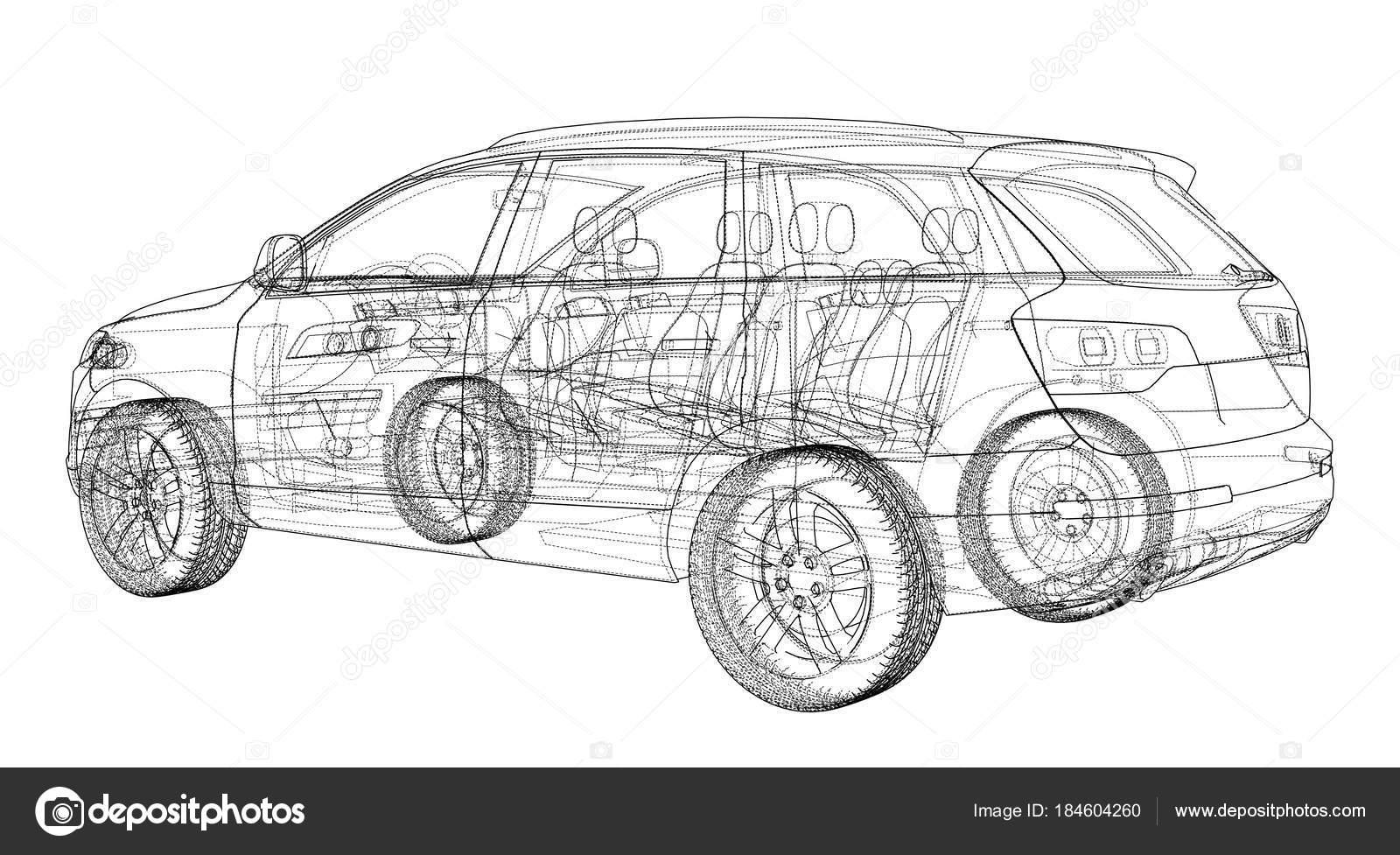 Auto-Skizze. Vektor — Stockvektor © cherezoff #184604260