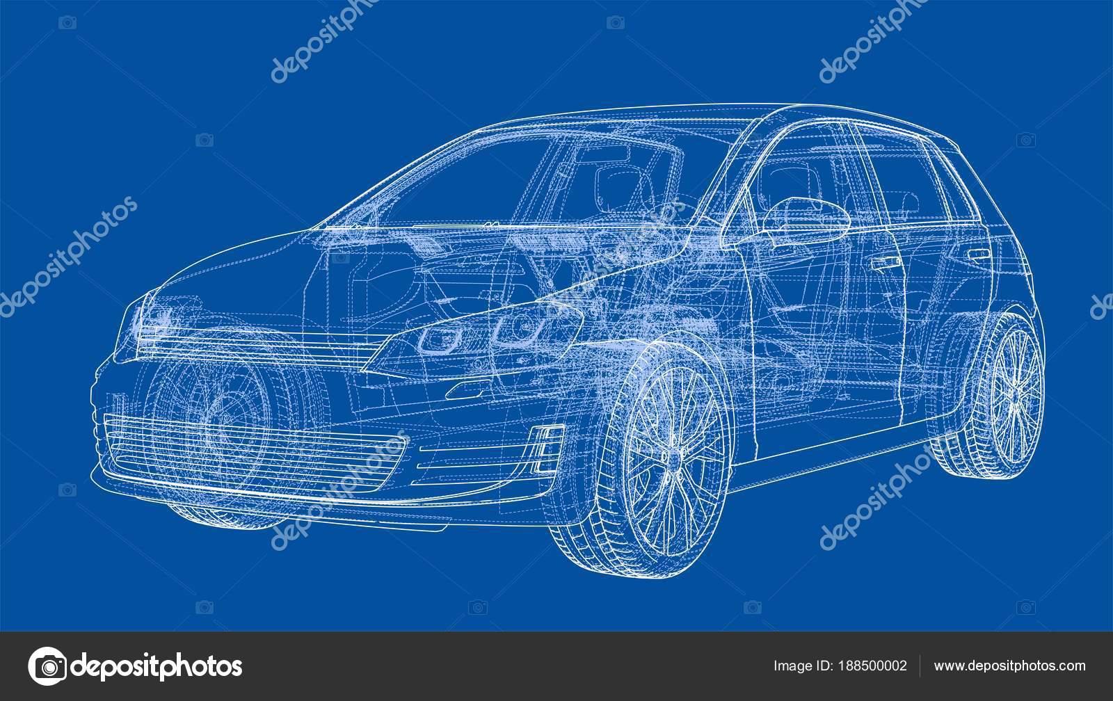 Car sketch. Vector — Stock Vector © cherezoff #188500002