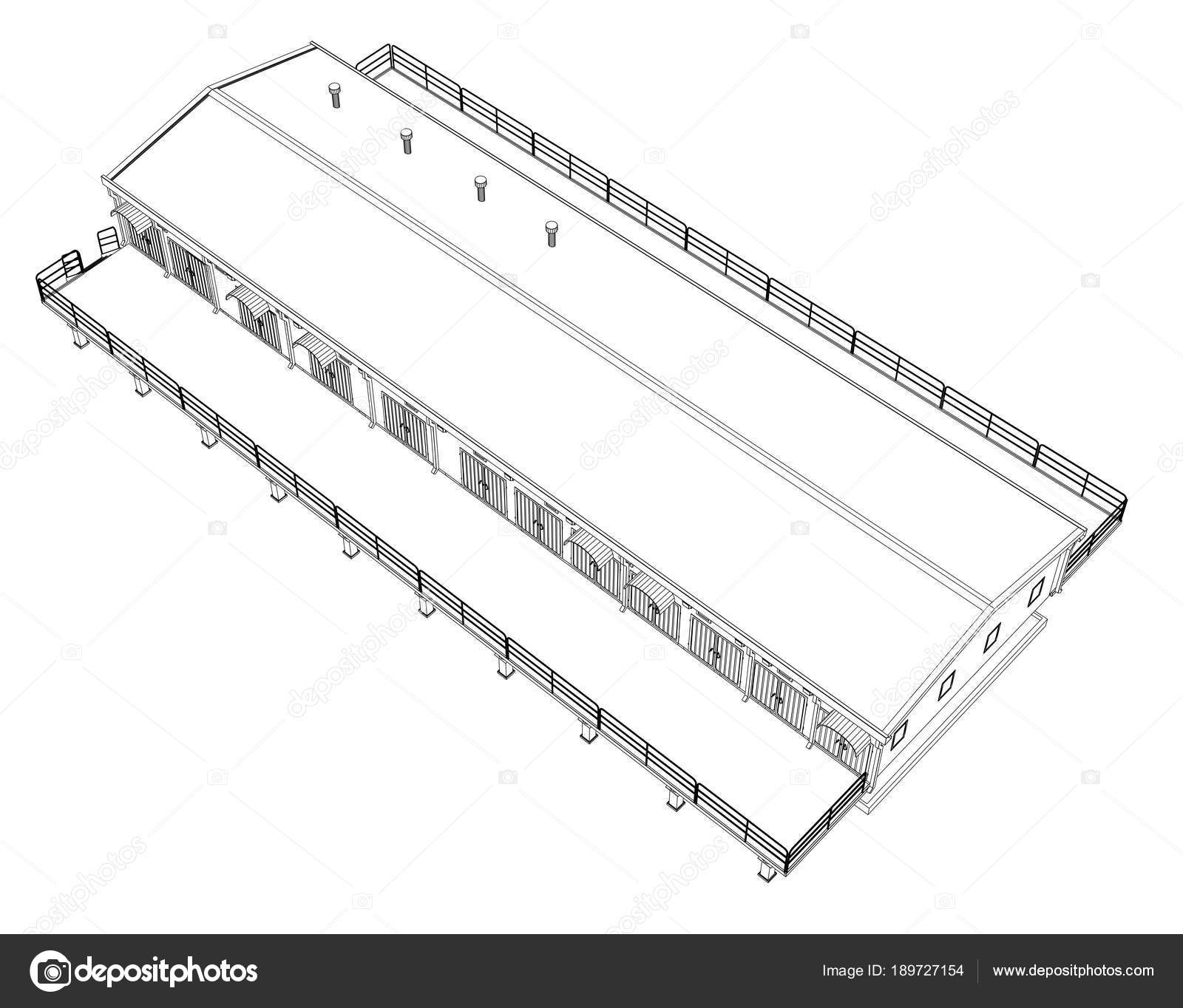 Wire Frame Industrial Building Stock Photo Cherezoff 189727154 Wiring Circuit Diagram
