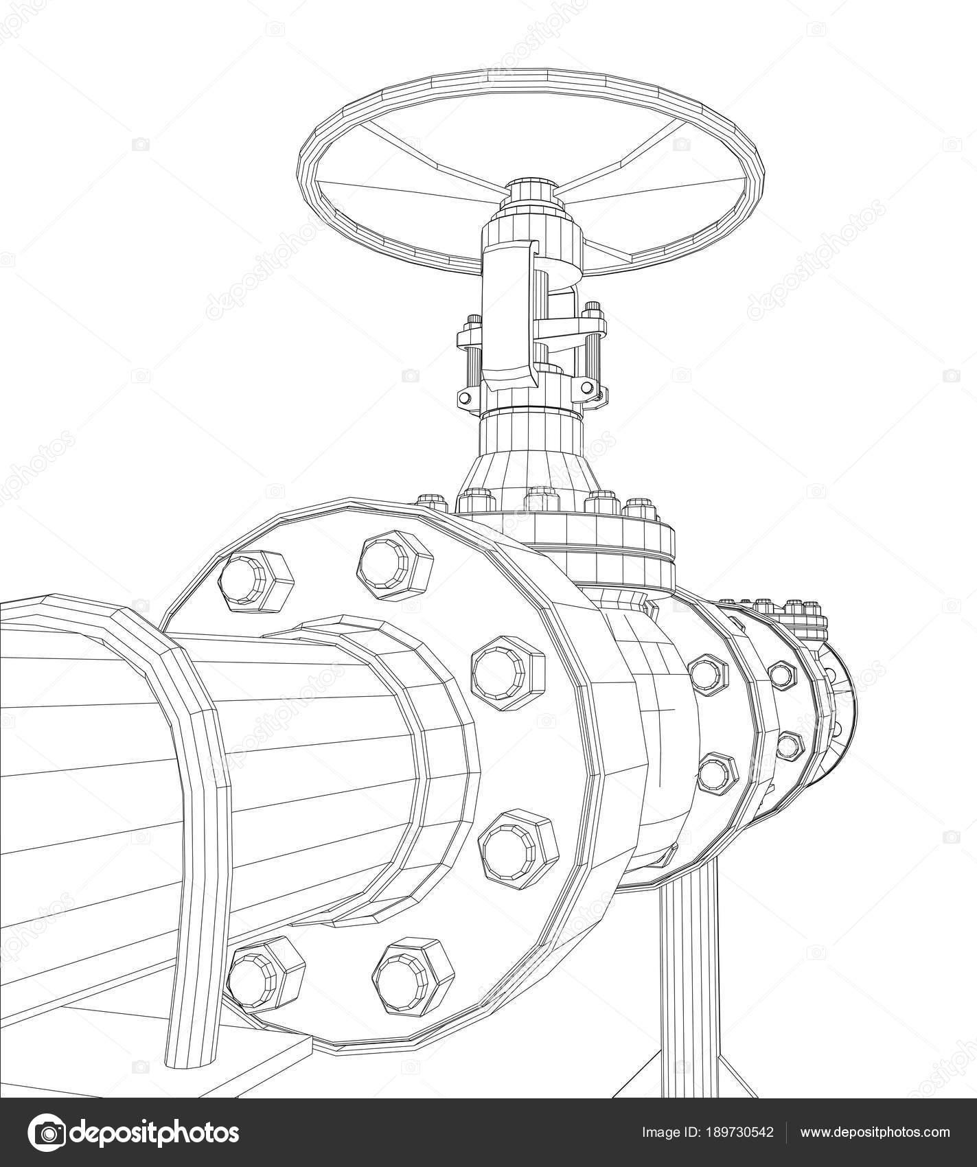 Válvulas industriales de marco de alambre — Fotos de Stock ...