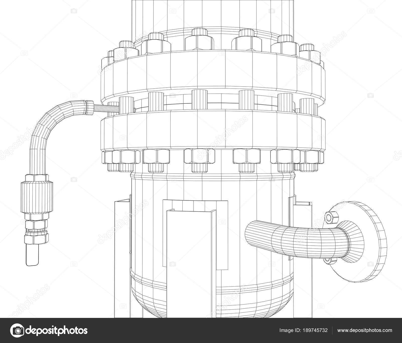 Equipos industriales de marco de alambre — Foto de stock © cherezoff ...