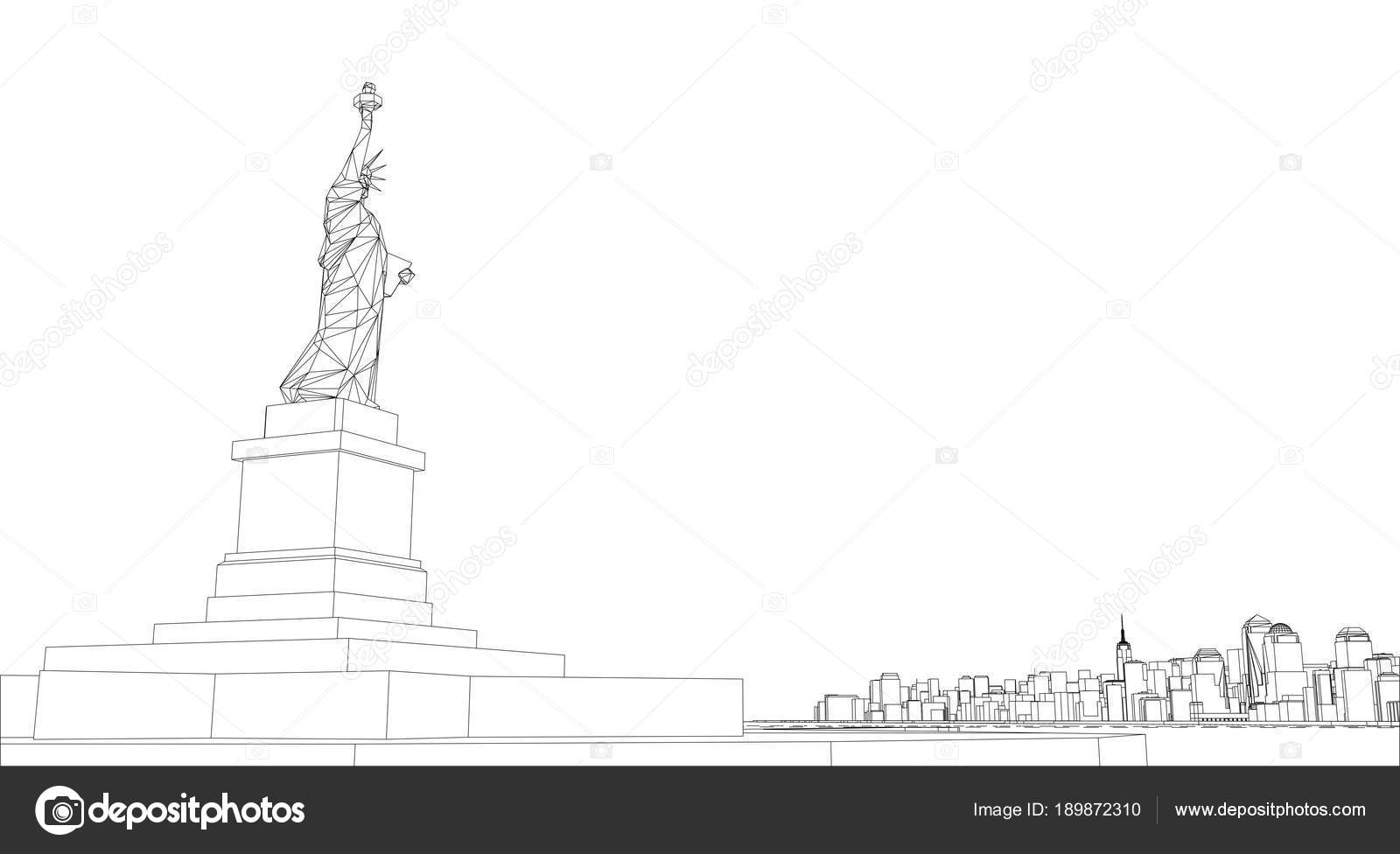 Wire frame new york city blueprint style stock photo cherezoff wire frame new york city blueprint style 3d rendering architecture design background photo by cherezoff malvernweather Image collections