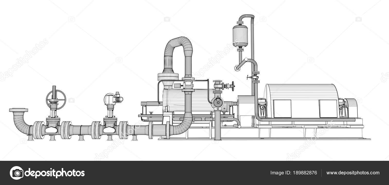 Bomba industrial de marco de alambre — Foto de stock © cherezoff ...