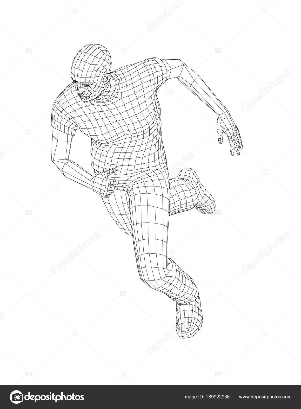 Wire Frame Running Man Stock Photo Cherezoff 189922936