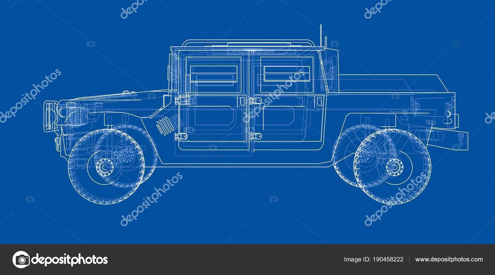 Auto Bauplan zu bekämpfen — Stockfoto © cherezoff #190458222