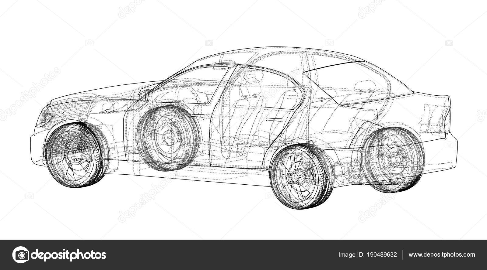 Concept car blueprint stock photo cherezoff 190489632 concept car blueprint stock photo malvernweather Images