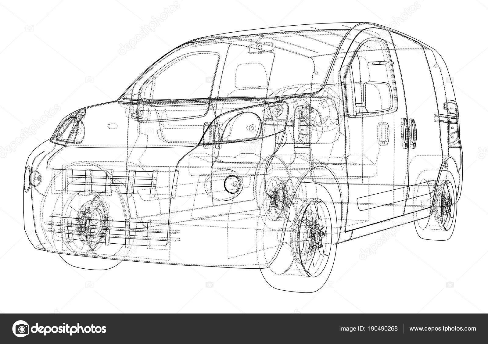 Concept car blueprint — Stock Photo © cherezoff #190490268