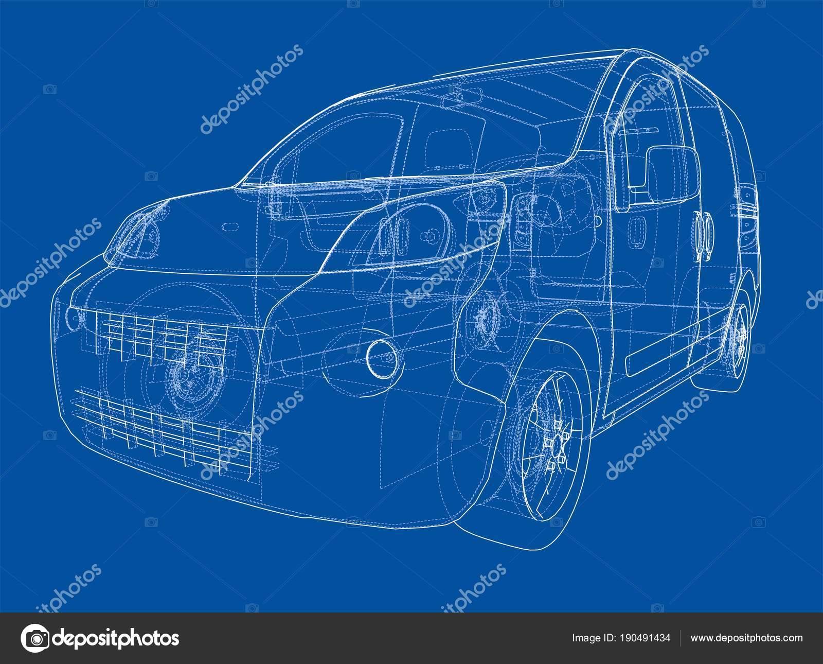 Concept car blueprint stock photo cherezoff 190491434 concept car blueprint stock photo malvernweather Image collections
