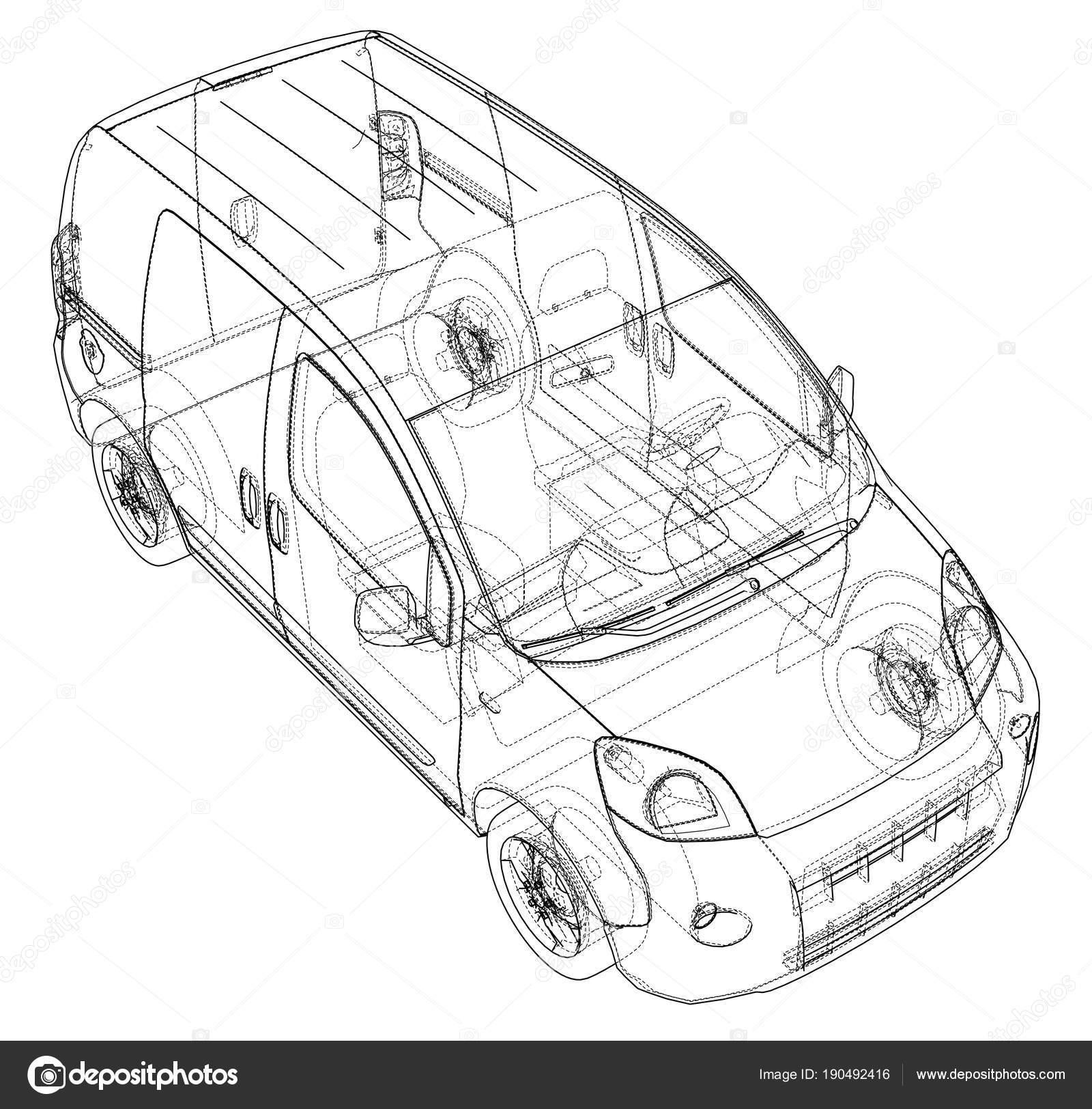 Concept car blueprint — Stock Photo © cherezoff #190492416