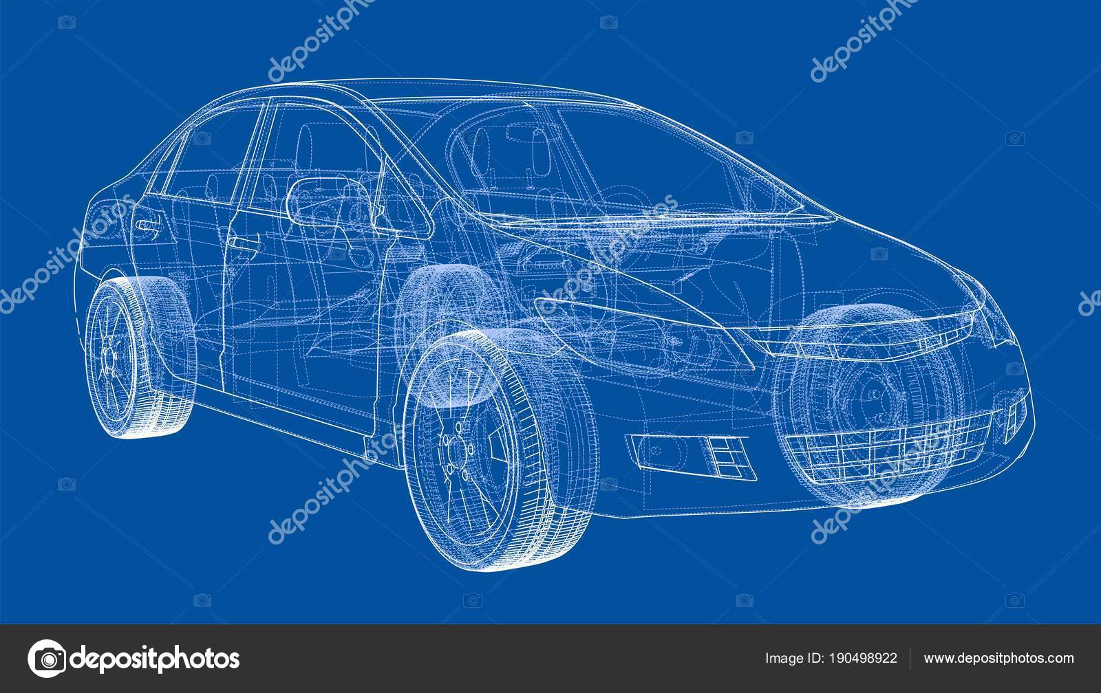 Concept car blueprint stock photo cherezoff 190498922 concept car blueprint stock photo malvernweather Images