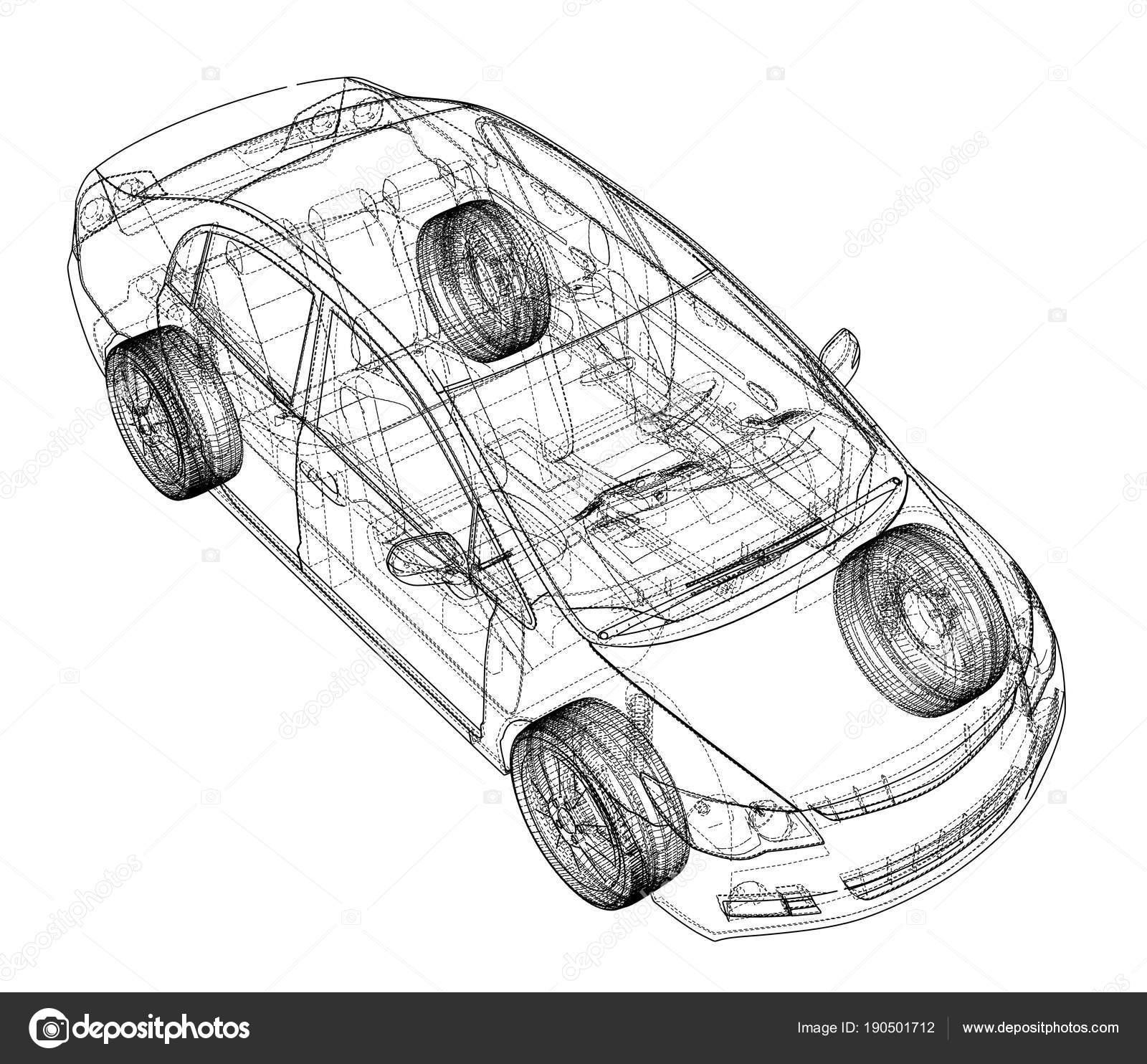 Concept car blueprint stock photo cherezoff 190501712 concept car blueprint stock photo malvernweather Images