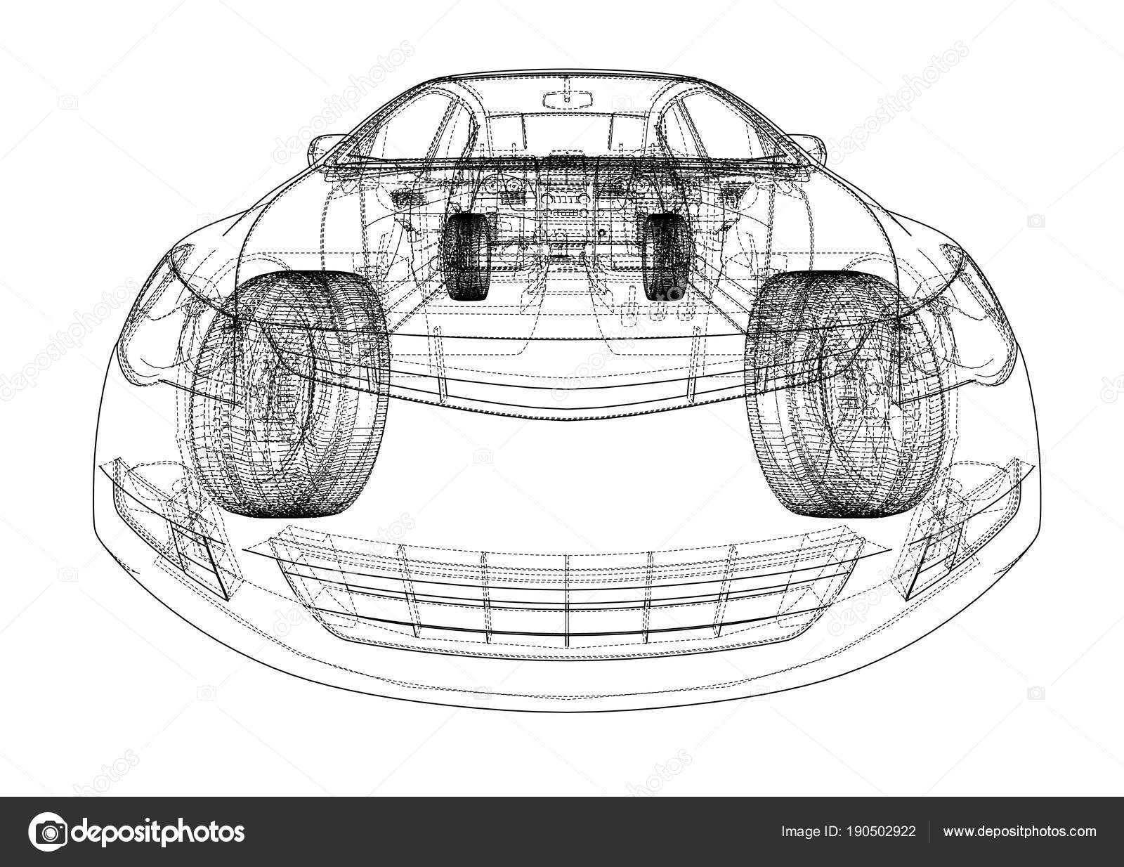 Concept car blueprint stock photo cherezoff 190502922 concept car blueprint stock photo malvernweather Images