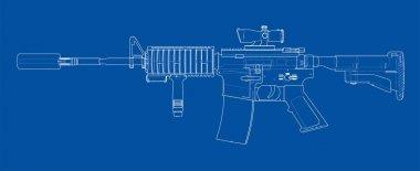 Machine Gun. 3d illustration