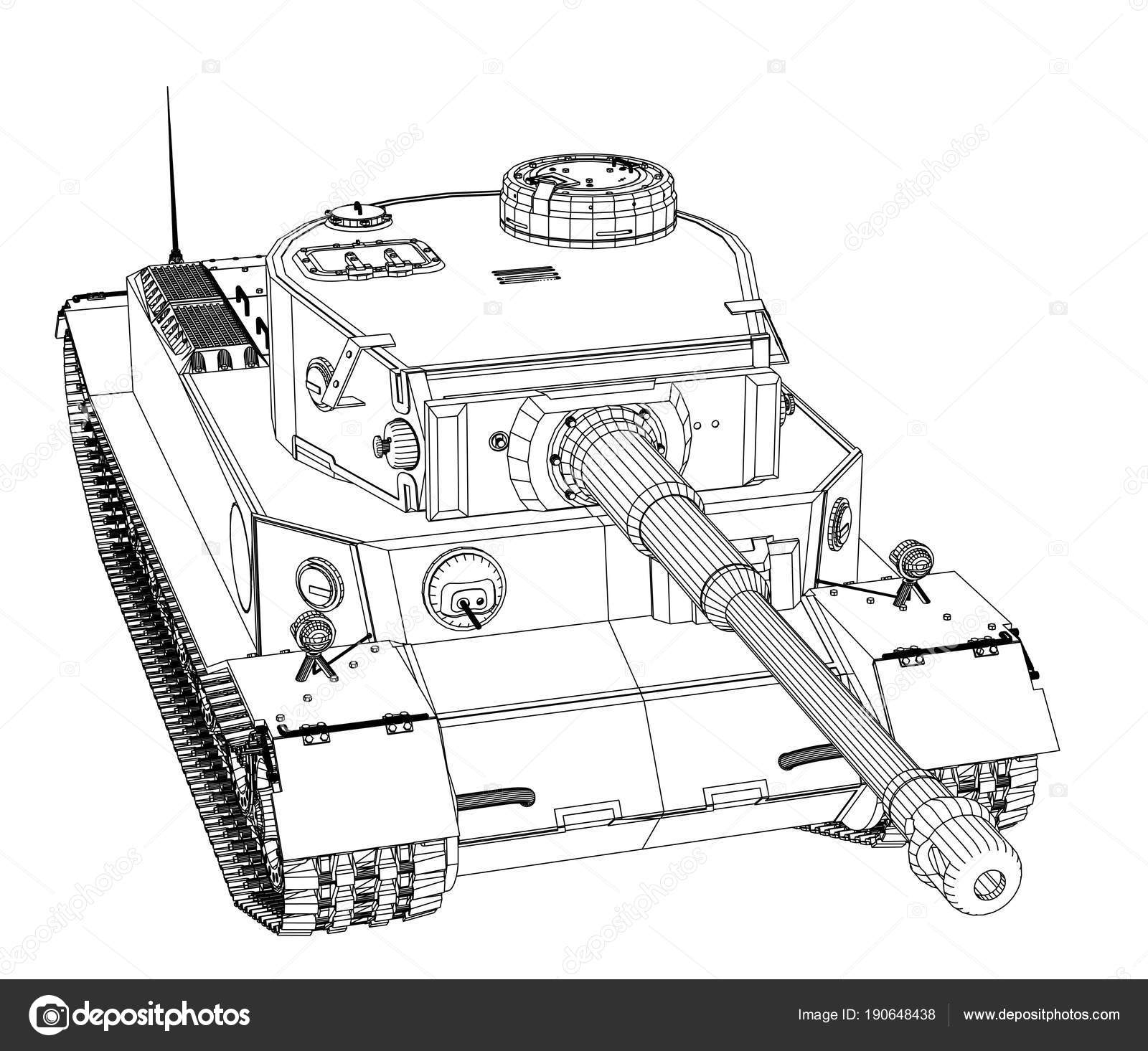 Blueprint of realistic tank stock photo cherezoff 190648438 blueprint or sketch of realistic tank 3d illustration photo by cherezoff malvernweather Image collections