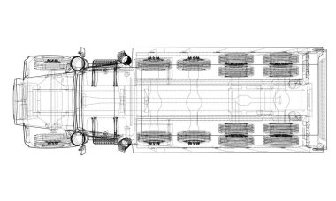 European truck outlined