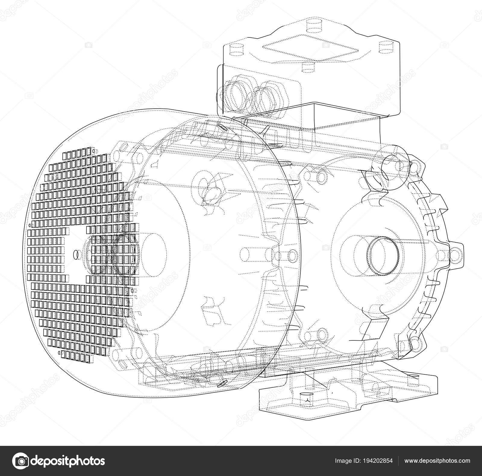 Contorno de motor eltrico vector vetores de stock cherezoff contorno de motor eltrico vector vetores de stock ccuart Choice Image