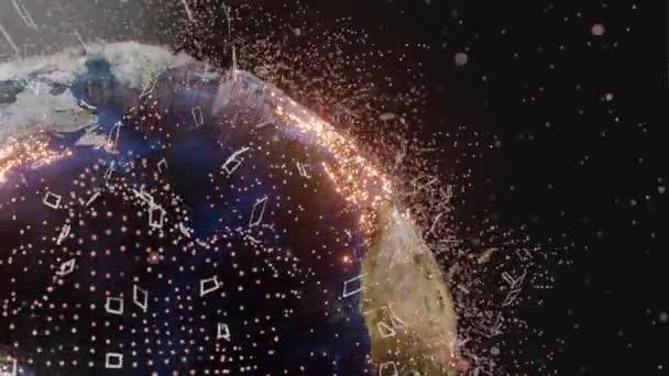 Spojovací vedení a tečky po celém světě