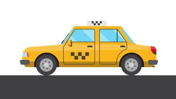 Animace jedoucího taxíku