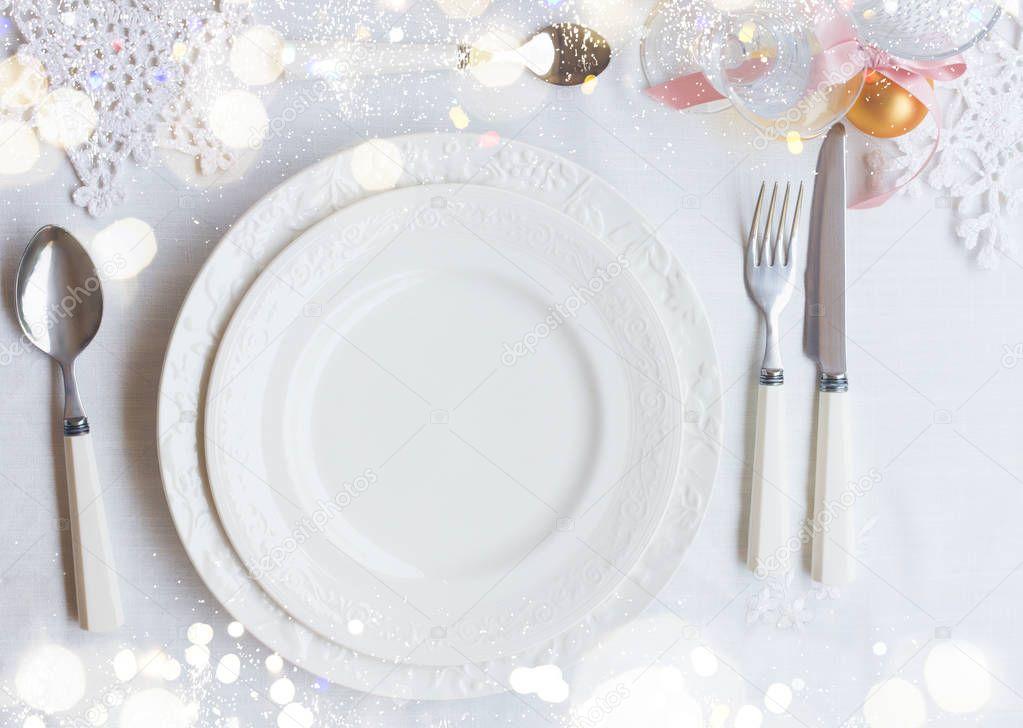 Christmas Tableware Set Stock Photo C Neirfys 130487624
