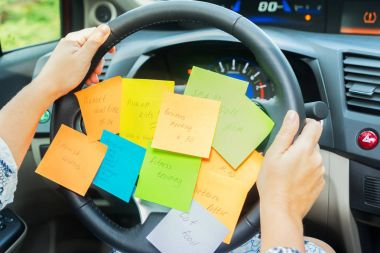 To do list in a car