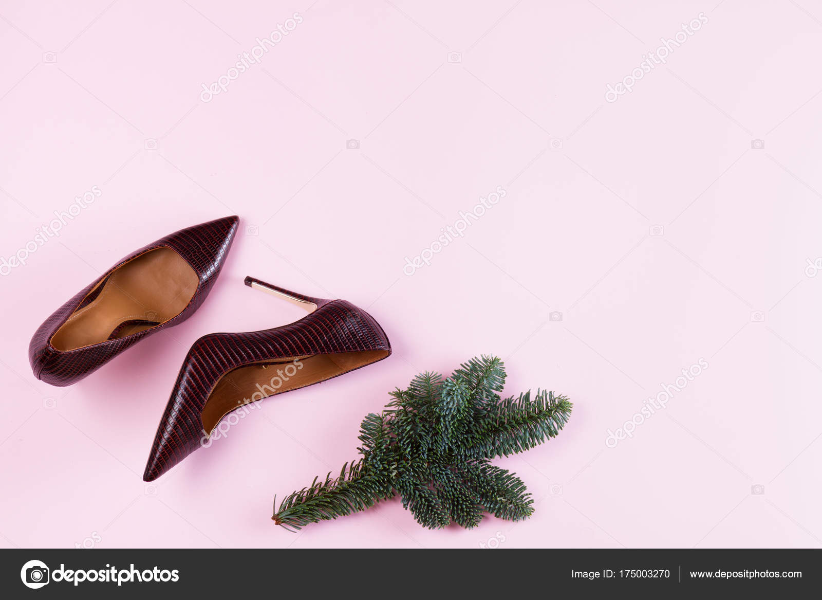 Hight heel shoes for Christmas party — Stock Photo © Neirfys #175003270