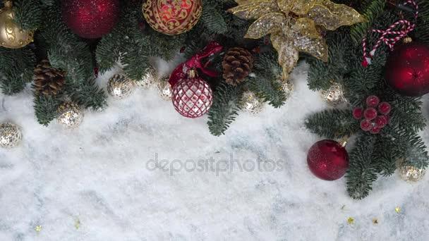 Vánoční scéna se sněhem