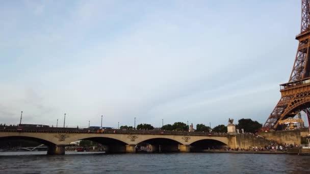 Seine river and Pont Dlena