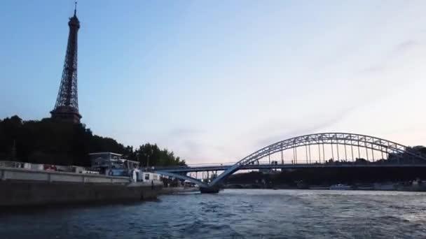 Seine river and Passerelle Debilly