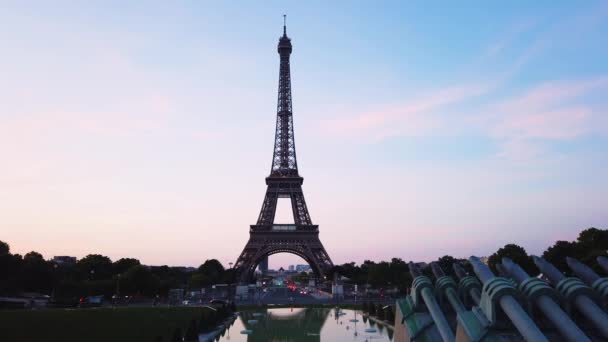 eiffel tour a z Trocadera v Paříži