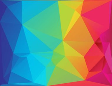 Abstract polygon spectrum background