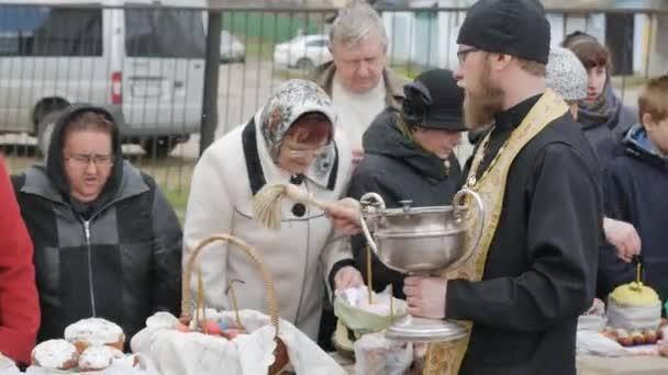 Mtsensk, Russia 15 aprile 2017. Editoriale - la gloriosa festa di Pasqua. Cristo è risorto