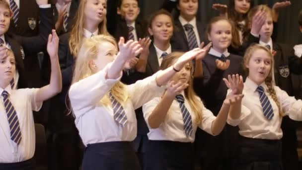students singing in rehearsal