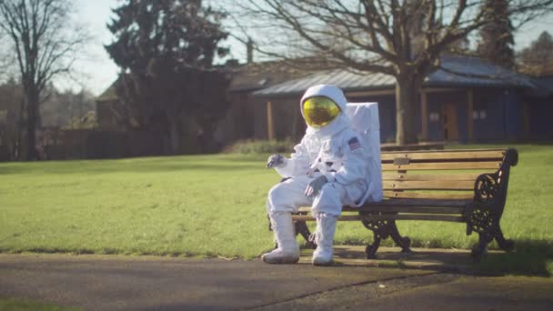 astronaut lost in a park