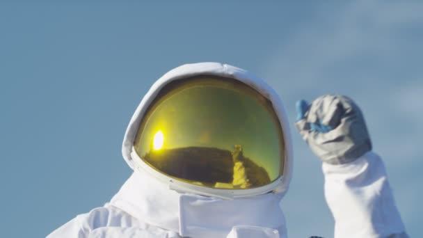 Astronaut celebrate a safe landing
