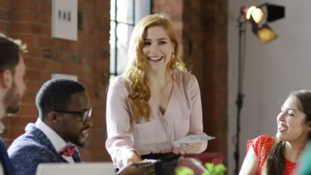 hipster woman in creative office