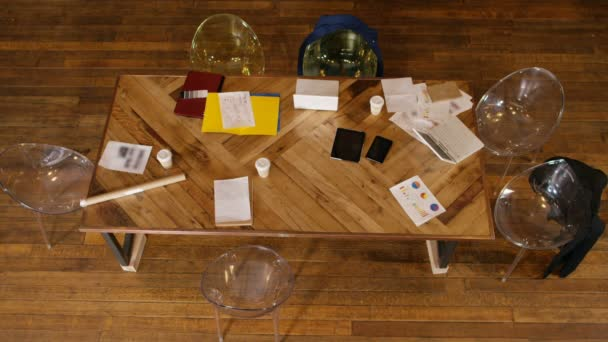 meeting table in loft office