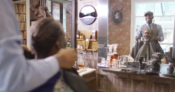 barber working on a customer