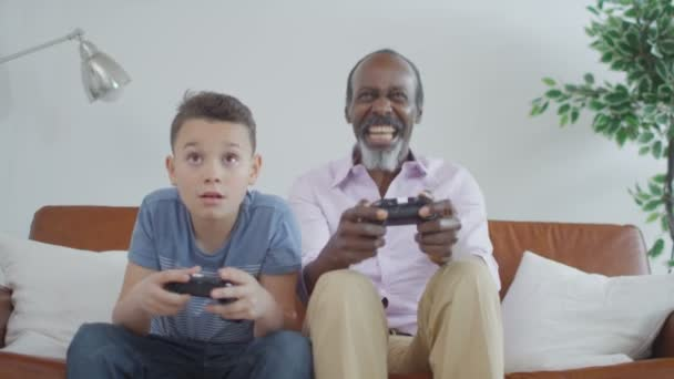 grandfather trying to play video games