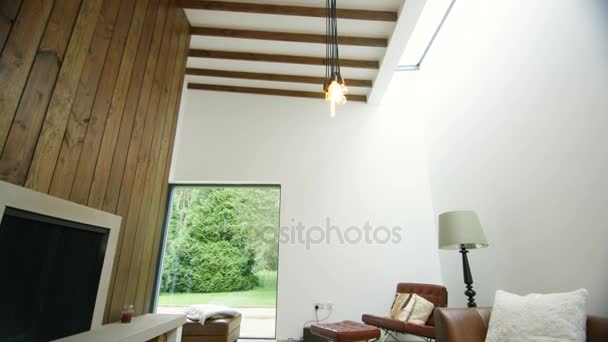 Interiér obývacího pokoje v elegantní moderní domácnosti
