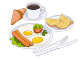 illustration of breakfast
