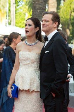 Colin Firth, Livia Firth attend the 'Loving' premiere