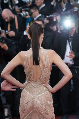 Bella Hadid attends the 'Cafe Society' premiere