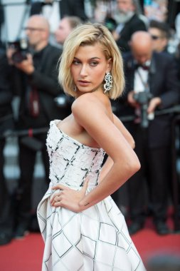 CANNES, FRANCE - MAY 24: Hailey Baldwin,  future wife of Justin Bieber  attends