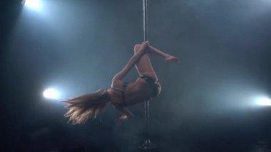Pole dance Studio. Pohled na profesionální tanečnice