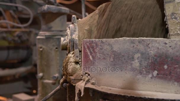 Ziegelindustrie. Blick auf den Herstellungsprozess